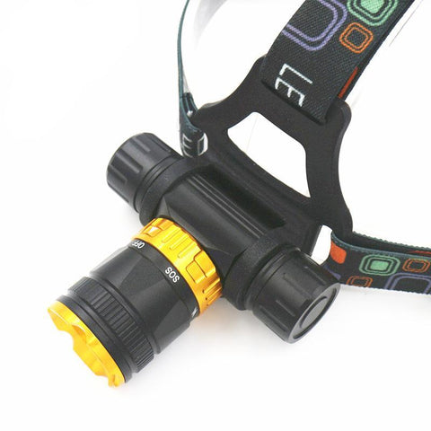 XML-T6 LED 3800 Lumen 5-Mode Diving Headlamp