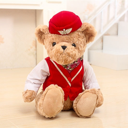 Cute Pilot Teddy Bear Plush Toy
