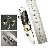 High Quality Stainless Steel Mini Folding Knife With Carabiner