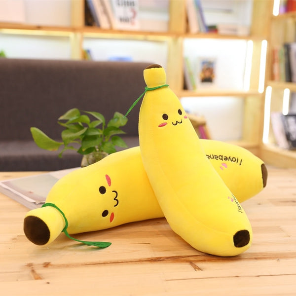 Creative Soft Banana Plush Pillow Staffed Yellow Banana