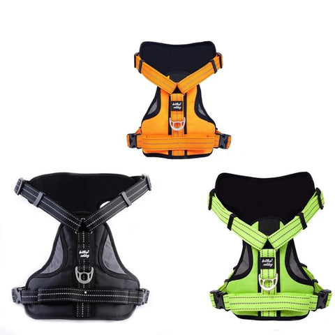 Reflective Large Dog Harness Strong Pet Training Walk Out Harness