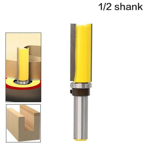 1pc Template Router - Flush Trim bit - with 1/2""