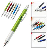 Pocket 1 Pcs 6 in 1 Multi Purpose Pen with Touch Screen Ruler