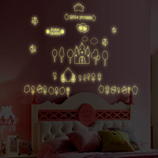 New product Luminous ice cream castle wall stickers