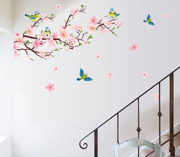 Peach blossom magpie can remove the wall decoration