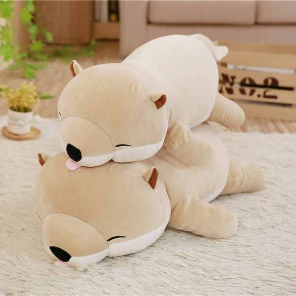 Cute Otter Stuffed Down Cotton Animal Pillow