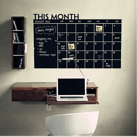 WALL STICKER This Month Calendar chalkboard wall stickers