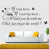 """If I Lay"" English Quote Wall Stickers"