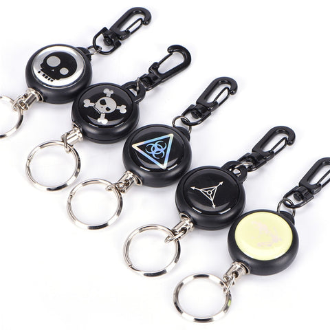 Anti-lost Extendable 60cm Metal Wire Retractable Recoil Key Chain
