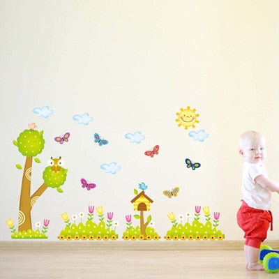 Cartoon forests and trees owl the household adornment wall stickers