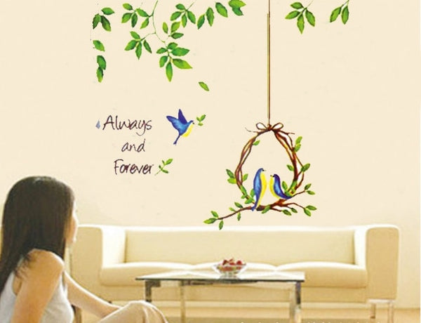New Arrival Bird and Tree DIY Removable Wall Sticker