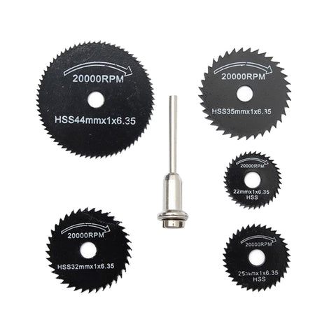 6Pcs Drill Dremel Accessories HSS Mini Circular Saw Blades