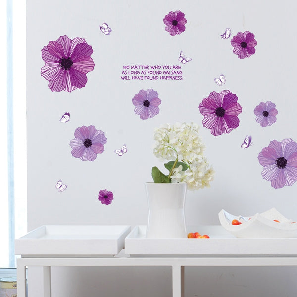 Purple Flowers Wall Sticker