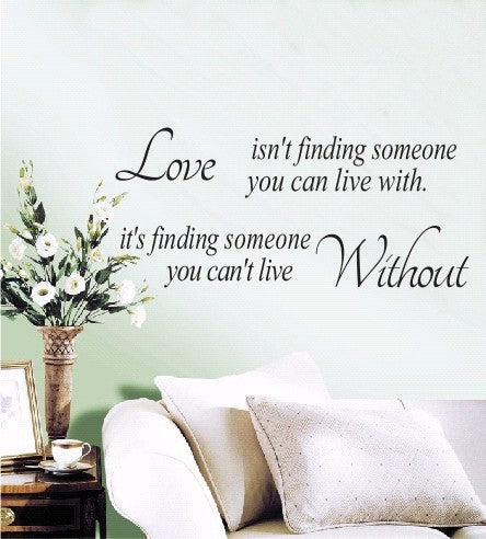 Wall Sticker Love Isn't Finding Black Art