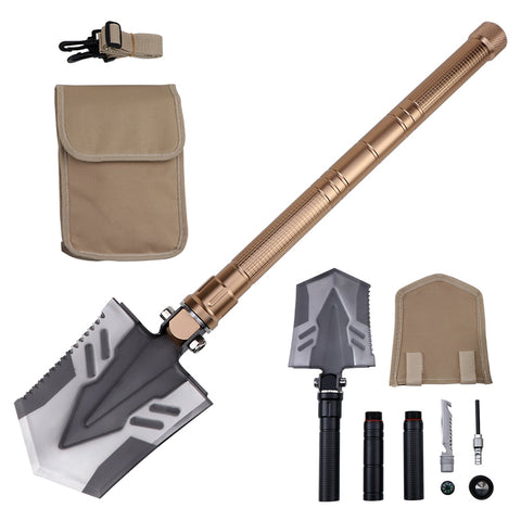 Camping Military Folding Shovel Pickax Entrenching Tool