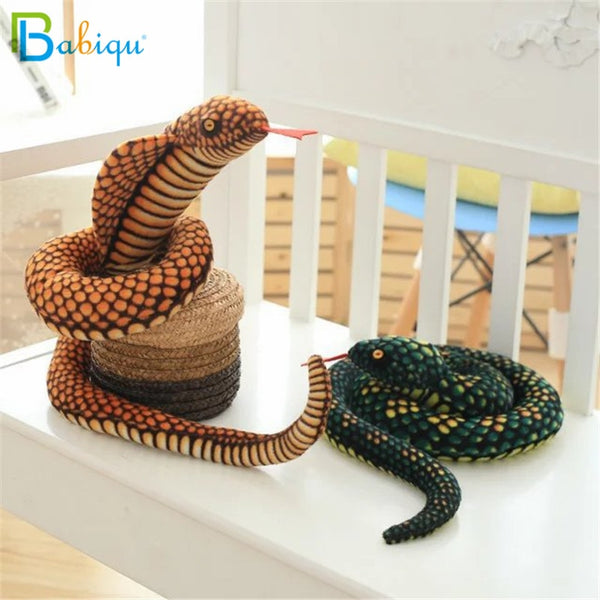 Simulation Cobra and Python Snake Plush Toy