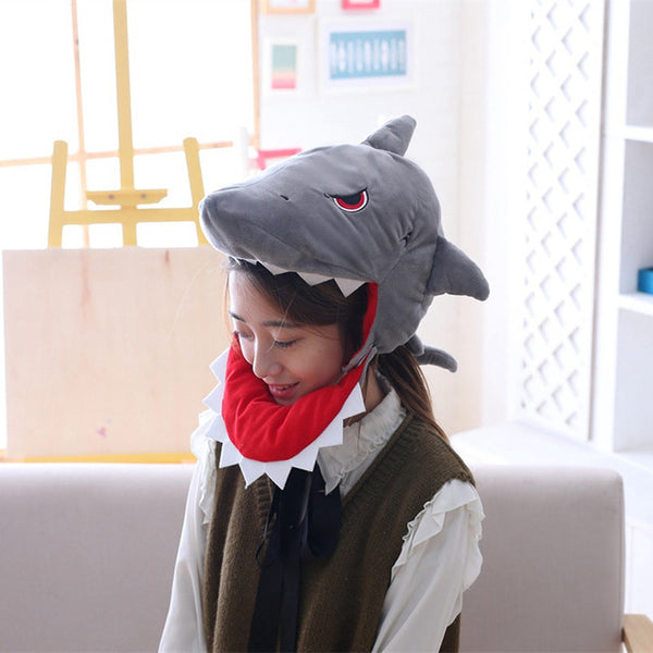 Creative Dinosaur Shark Headgear Cute Staffed Caps
