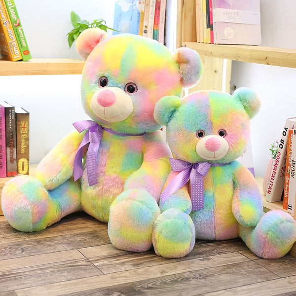 Cute Rainbow Bear Plush Toy