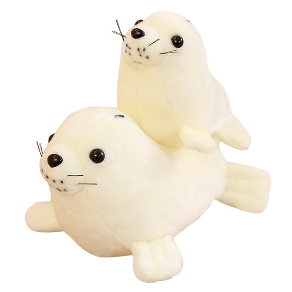 Sea World Animal White Sea Lion Seals Plush Doll