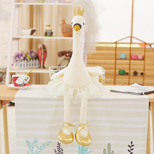 Lovely Swan with Crown Plush Toy