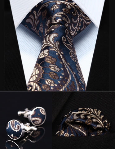 Party Wedding Classic Pocket Square Tie