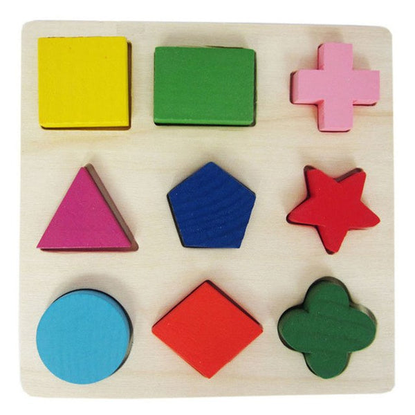 1 piece Baby Kids Wooden Learning Geometry Educational Toys