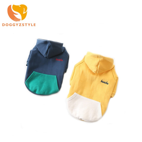 Pet Clothes Dog Hoodies Spring Autumn Leisure Sweatshirts