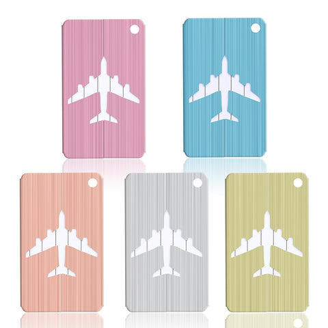 Aluminum Alloy Cruise Aircraft Luggage Tag Baggage Label