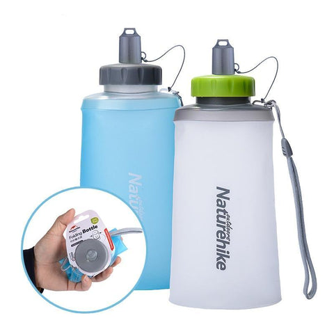 500ML 750ML Silicone Collapsible Folding Water Bottle