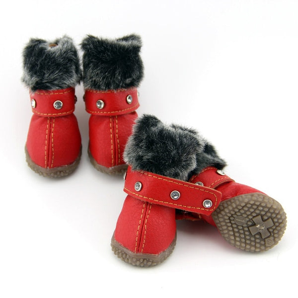 Winter Warm 4pcs/set Dog's Snow Boots