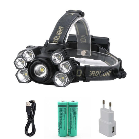 30000 lumens 7 Led ZOOM Headlamp