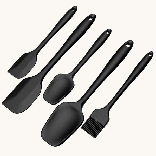 Food Grade Silicone Scraper 5 Piece Set