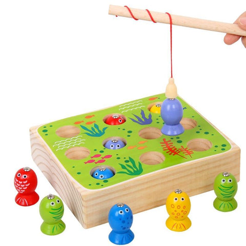 High Quality Wood Fish Game Kids Wooden Toys