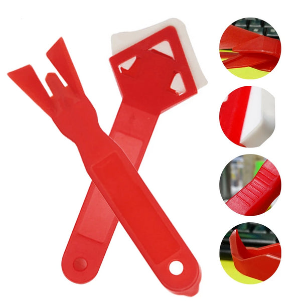 2 Pcs/set Home Joint Silicone Glass Cement Scraper