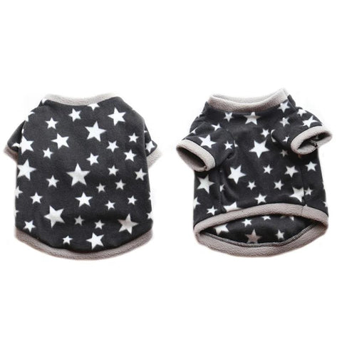 Dog Sweatshirt Star Fleece Pet Puppy Cat