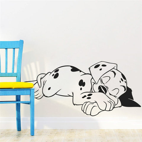 Lovely Sweet Dream Dalmatian Dogs Wall Stickers