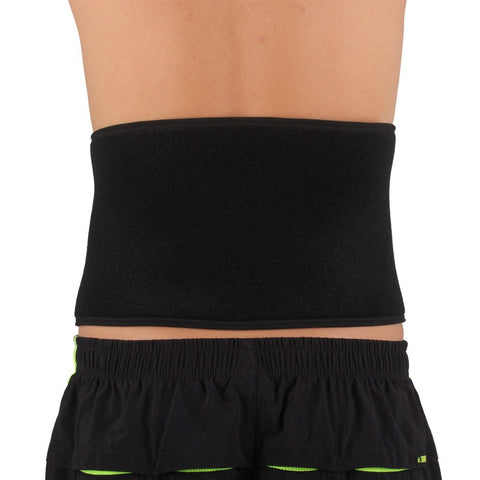 SX631 Sports Back Waist Brace Support Strap Wrap Belt Band - Black