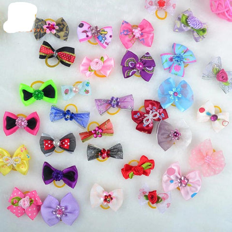 30 Pcs Handmade Pet Grooming Hair Accessories