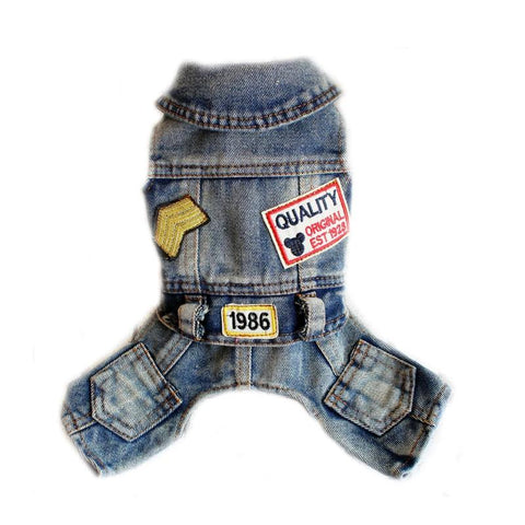 Four Legs Patch Jeans Dog Clothes for Pet