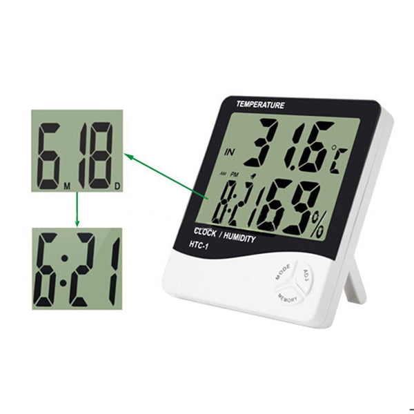 Digital Room LCD Thermometer Electronic Temperature Humidity Meter