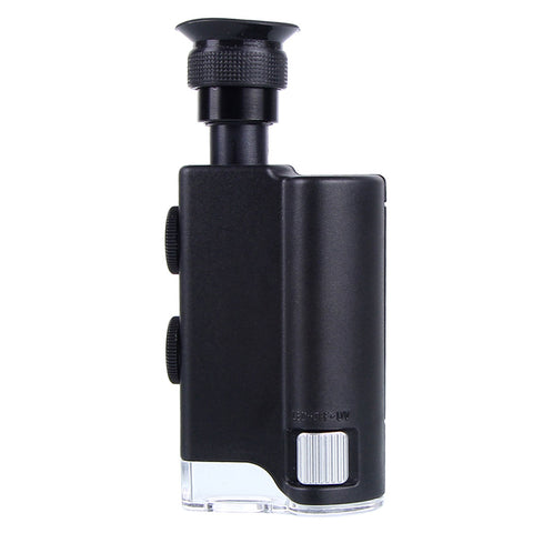 Mini Portable Microscope Pocket 200X~240X Handheld LED Lamp