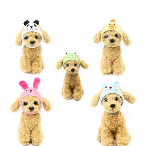 5 Styles Cute Dog Hat Animal Shape Dog Cap