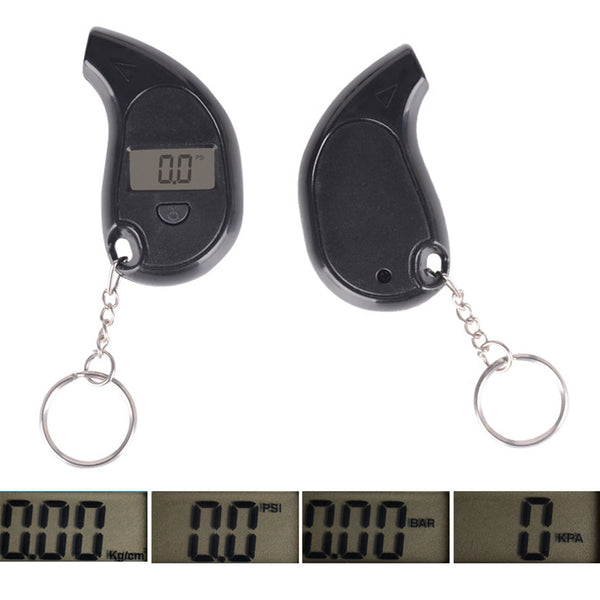 Mini LCD Digital Tire Tyre Keychain