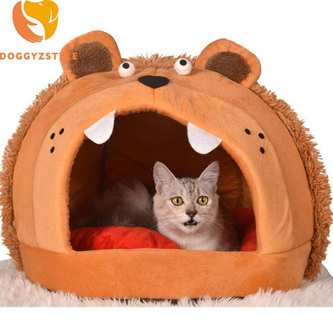 Cute Lion Pattern Pet Sofa Dog Beds