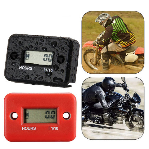 Tach Hour Meter Gauge Motorcycle Tachometer For Spark Plugs