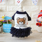 Winter Autumn Dog Yarn Skirt Dress