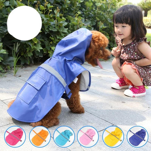 New S-2XL large Big Dog Raincoat Pet Apparel Dog Clothes