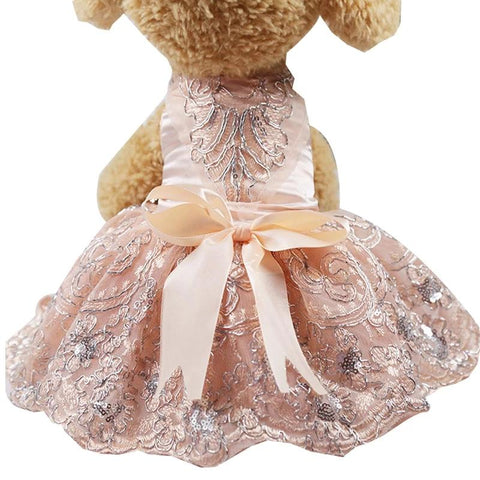 Princess Wedding Dresses Puppy Skirt Bling Bowknot Puppy