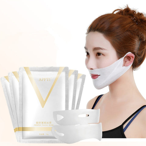 1pcs 4D Double V Face Shape Tension Firming Mask Paper