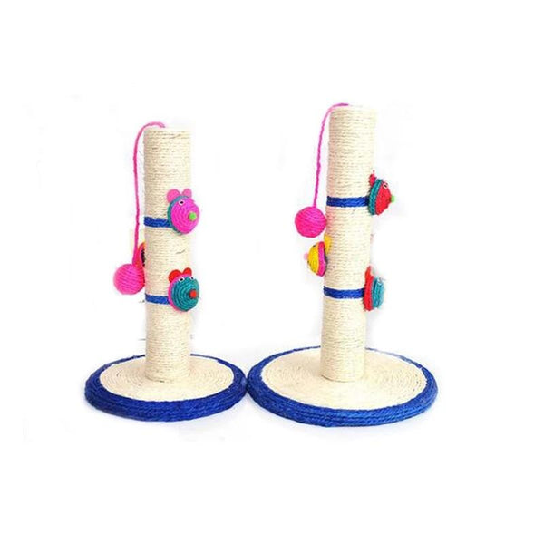 2 Styles Funny Pet Cat Toy Sisal Column Cat Scratch Ball